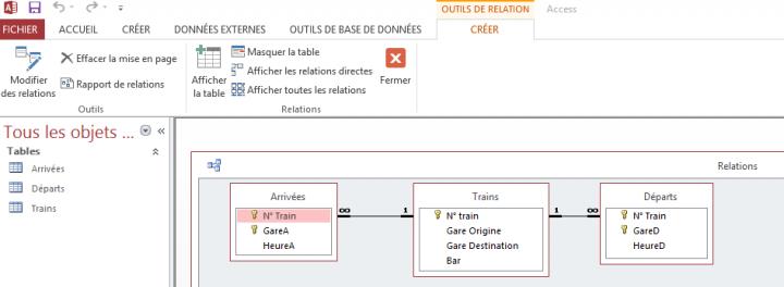上課的例子之一,火車站的資料庫管理