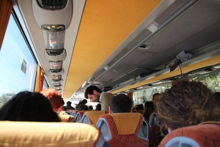 全班從學校坐遊覽車到Béziers,約一個小時的車程。