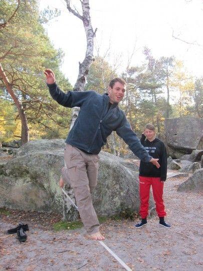 平衡感對攀岩很重要喔~