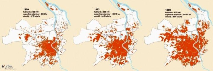 這60年來波爾多的都市擴張
