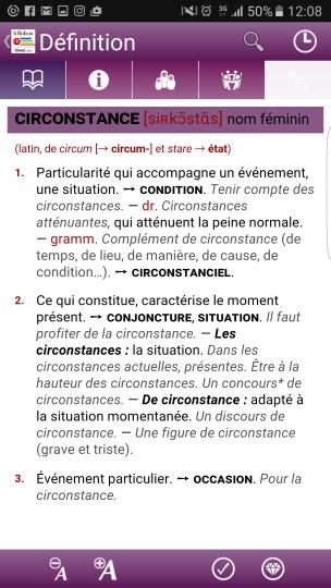 單字解釋和例句。