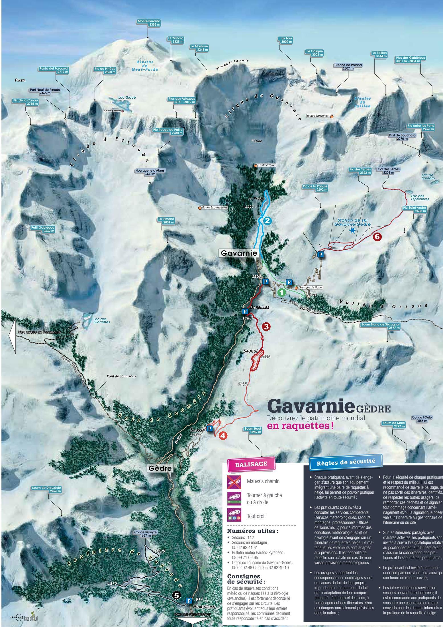Gavarnie 雪地健行路線難度&地圖